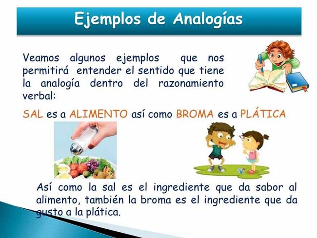 Ejemplos de analogías