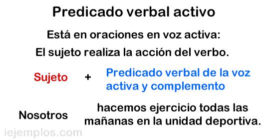 Predicado verbal activo.