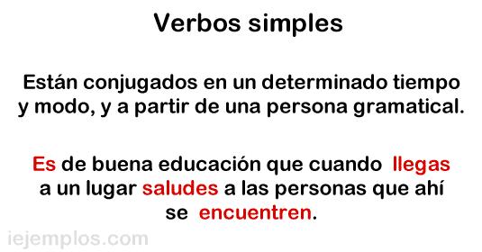 Verbos simples.